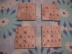 Scrabble serving tray and coasters - HOME SWEET HOME