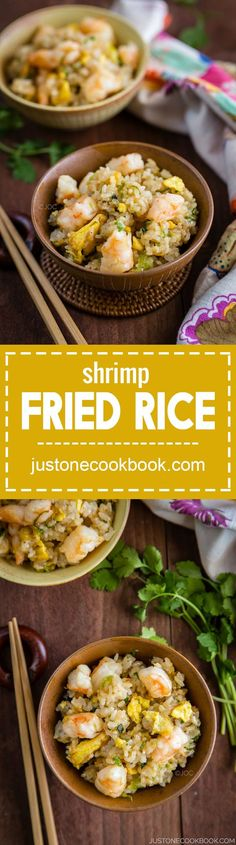 Shrimp Fried Rice (海老チャーハン) | Easy Japanese Recipes at http://JustOneCookbook.com