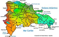 Dominican Republic map - Mapa República Dominicana (provincias)