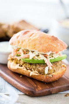 Filet O' Chickpea Sandwich with Tartar Sauce Slaw  |  Keepin' It Kind