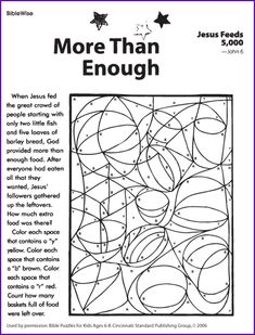 1000 images about children 39 s church lessons on pinterest for Feeding the five thousand coloring pages