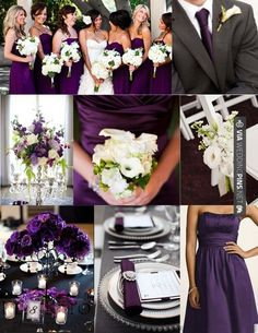 I think I want my wedding colors to be purple and dark gray