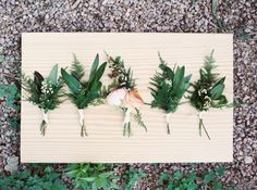 Green boutonnières |  Florals by Bricolage Curated Florals | Photo by J Bird Photography | Read more - http://www.100layercake.com/blog/?p=76549 #boutonnières #gardenwedding