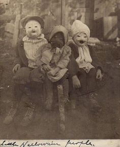 """Little Halloween People.""  Creepy as crap!!!"