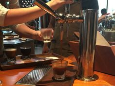 Starbucks' nitro cold brew, which is rolling out at 500 locations this summer, was first tested at the Roastery and quickly became one of the top-selling drinks at the location.