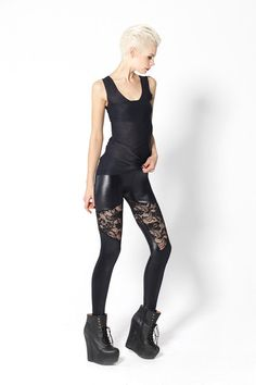 Spartans Lace Leggings › Black Milk Clothing Size M