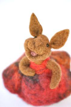 Needle felted Bunny Rabbit needle felted animal by BearCreekDesign, $60.00