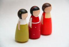 Gifts Babys & Kids Toys Wooden // The Wysocki Sisters // Wooden Dolls Wooden Toys. $35.00, via Etsy.