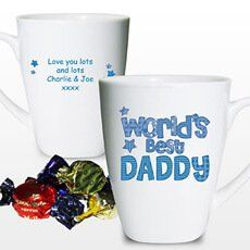 Personalised Memento Personalised Worlds Best Daddy Mug This bright and funky patterns design bone china latte mug is the perfect personalised gift for birthdays and fathers day. Personalise the mug with any name on the front eg. Dad, Grandad, any name upt http://www.MightGet.com/january-2017-13/personalised-memento-personalised-worlds-best-daddy-mug.asp