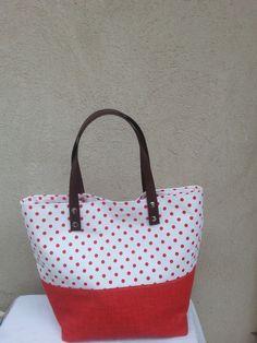 borsa a pois primavera/estate 2015 di Virgin - Handmade Bags and more  su DaWanda.com