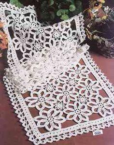 Rectangular doily crochet