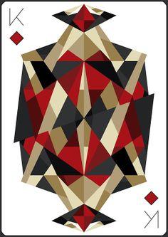 King of Diamonds - Print by Cowabunga  |  via: redbubble.com