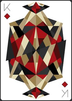 King of Diamonds - Print by Cowabunga  |  via: redbubble.com