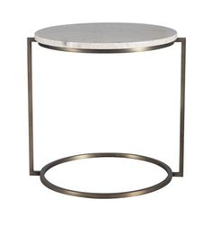 Boyd Halo Side Table 500 d x 540h Travertine top with aged brass frame d695ag - light, airy look with natural stone top as side tables