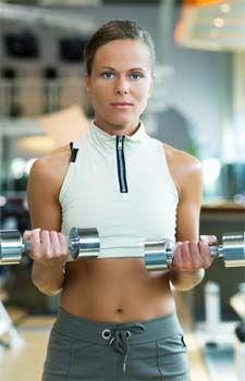 Kelly Ripa's arm workout