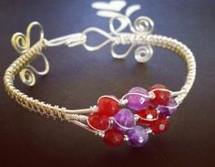 Petite beads on wire woven bracelet