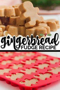 Easy Gingerbread Fudge Recipe via Spaceships and Laser Beams - Fudge - Dessert Christmas Fudge, Christmas Snacks, Christmas Cooking, Christmas Candy, Xmas, Homemade Fudge, Homemade Candies, Homemade Breads, Holiday Baking