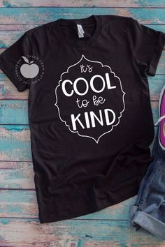 """Encourage and build kindness with this cute """"It's Cool to be Kind"""" tee.  This teacher t-shirt is perfect for teachers of any grade, or for anyone that just wants to promote kindness in the world.  Whether you're an instructional assistant, para, elementary teacher, or administrator, this is the perfect teacher tee.  Celebrate kindness with this kindness tee perfect for teachers or anyone who wants to spread kindness. #kindness #kindnesstee"""