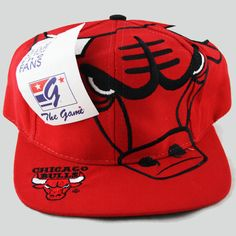 Chicago Bulls The Game Big Logo Snapback Hat Chicago Bulls, Who The Cap Fit, Nba Hats, Fly Gear, New Era Fitted, Jordan 23, Snap Backs, Snapback Cap, Old School