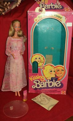 1970s Kissing Barbie.  I thought it was so neat how you pressed her back and she made kissy sounds.