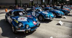 Great selection of Alpine Renault A110 1600 S models at the Grand Palais in Paris