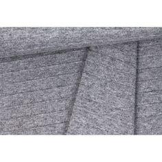 Strickstoff - Fashionstoff - Streifen - Grau Meliert Heather Grey, Stripes, Fabrics