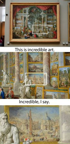 Mind-blowing art from the past reveals an extremely detailed art show inside of another painting.
