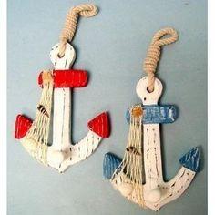 Set of 2 Wood Anchor Wall Hooks - Nautical Decor - New The Beachcombers International, Inc. http://www.amazon.com/dp/B001TA3O7G/ref=cm_sw_r_pi_dp_AFn4tb1WEFJ0B