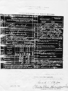 Charles Louis Hollingsworth birth certificate [delayed] 1917 - 1993.