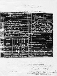 Charles Louis Hollingsworth birth certificate [delayed] 1917 - 1993.