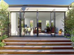 High Style in Pacific Heights: Messana O'Rorke Combines Two San Francisco Cottages Contemporary Windows And Doors, Patio Deck Designs, Pacific Heights, San Francisco Houses, Outdoor Spaces, Outdoor Decor, Indoor Outdoor, My Ideal Home, Minimal Home
