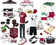 """""""Arizona Cardinals His and Hers Tailgate Party"""" by azcardinals on Polyvore"""
