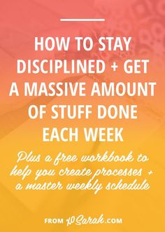 Its one thing to load your to-do list with exciting projects and ideas, but quite another to actually accomplish that massive amount of stuff without being glued to your computer, heading straight for burnout city. Click for my tips to conquer your to-do