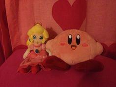 princess peach plush and kirby plush <3