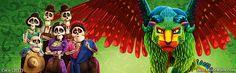 #Pixar's #Coco #dualscreen #wallpaper with #Pepita #Imelda and toda la familia :]