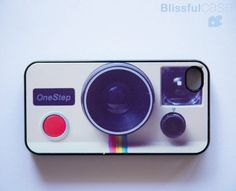 For the instagram lovers.  Vintage instant camera iphone 4 case by Blissful Case.