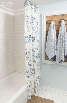 Gorgeous guest bathroom remodel via thegoldensycamore.com #bathroomremodeling
