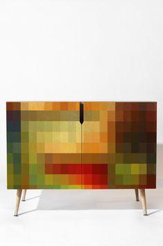Madart Inc. Maze of Colors Credenza   DENY Designs Home Accessories