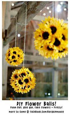 DIY flower balls for dorm room