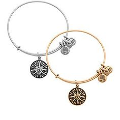 Mickey's Fun Wheel Bangle by Alex and Ani - Disneyland   Disney Store The distinctive design of Mickey's Fun Wheel on this bangle will take your thoughts on a ride back to your trip to Disney California Adventure. Crafted by Alex and Ani, this adjustable metal bangle is ''infused with positive energy.''