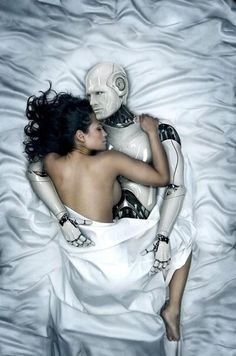 I thought this image was an interesting take on the Singularity Theory. After all, who's to say that love with a robot/cyborg/most electronic human won't exist? Pinned by Candice Curtis - Convergence Media. Chica Fantasy, Sci Fi Fantasy, Robot Programming, I Robot, Ex Machina, Wow Art, 3ds Max, Perfect Man, Photo Manipulation