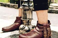 Biker, Boots, Collection, Fashion, 7 Dwarfs, Female Dwarf, Leather, Over Knee Socks, Crotch Boots