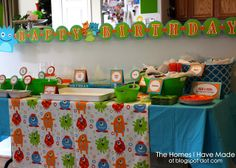 Little Monster Party with great diy ideas and a lovely healthy kid friendly food spread.