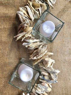 Oyster Shell Garland Oyster shell Table Runner | Etsy Boho Wedding, Rustic Wedding, Wedding Decor, Dollar Tree Christmas, Table Top Design, Oyster Shells, Diy Garland, Diy Home Decor Projects, Holiday Tables