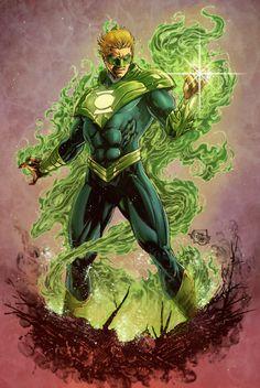 Dc Heroes, Comic Book Heroes, Comic Books Art, Comic Art, Green Lantern Corps, Green Lanterns, Arte Dc Comics, Superhero Characters, Dc Comics Characters
