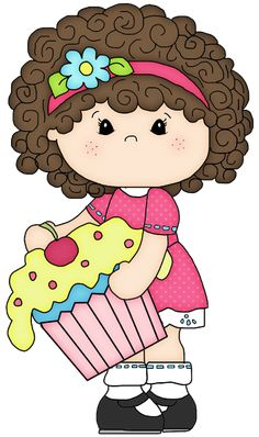 BLOG DE GIFS Y IMÁGENES Crafts For Kids, Arts And Crafts, Cute Cartoon Girl, Cupcake Art, Machine Embroidery Applique, Stick Figures, Drawing For Kids, Cute Dolls, Doll Face