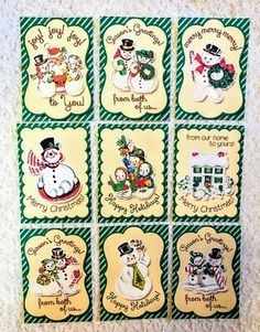 Set of 9 Cards~Shabby Chic Coffee Time~Greeting Card Toppers~Card Making~#29N