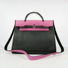 Big Sale Hermes Kelly 60667 Handbag Black With Peach Silver Outlet Online ed651be636b