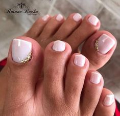 22 New ideas french pedicure designs pink manicures Bridal Toe Nails, Wedding Toe Nails, Wedding Toes, Bride Nails, Bridal Pedicure, Wedding Nails For Bride, Gel Toe Nails, Cute Toe Nails, Feet Nails
