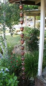 acorn rain chain- wanted one of these too!